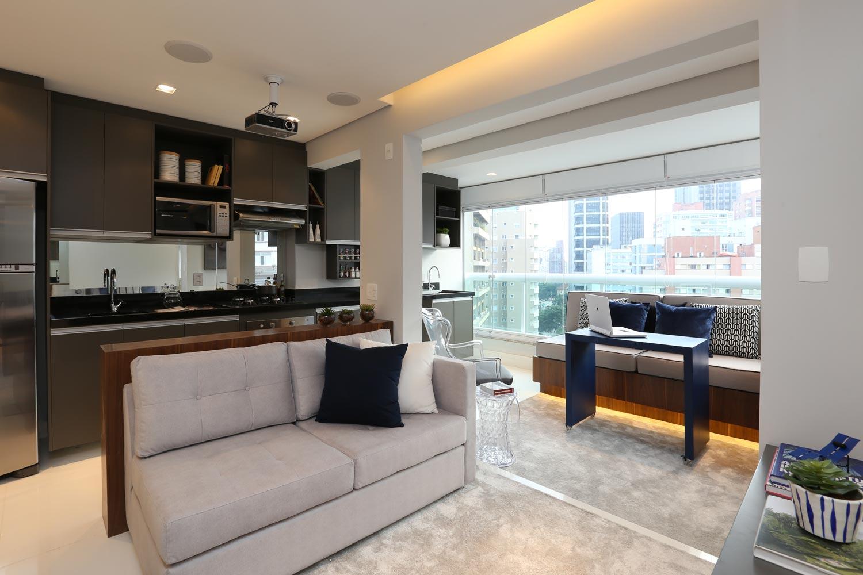 Decoração de cozinhas pequenas - integração sala e cozinha