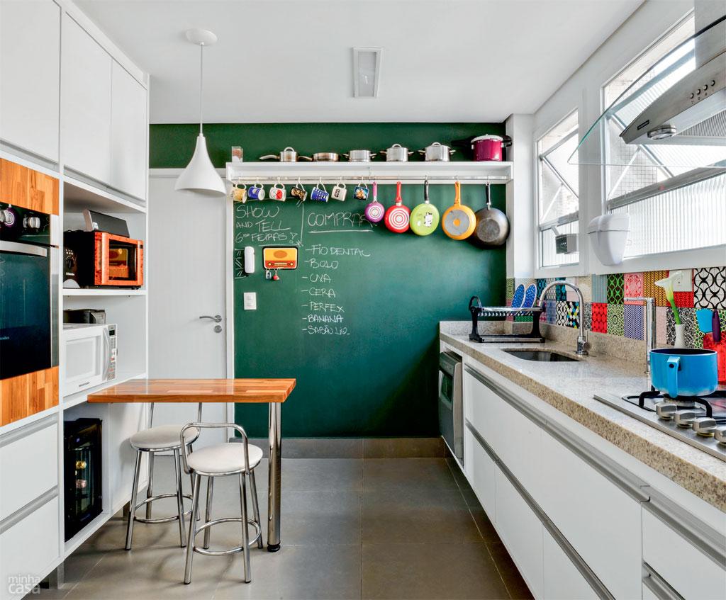 Decoração de cozinhas pequenas - lousa