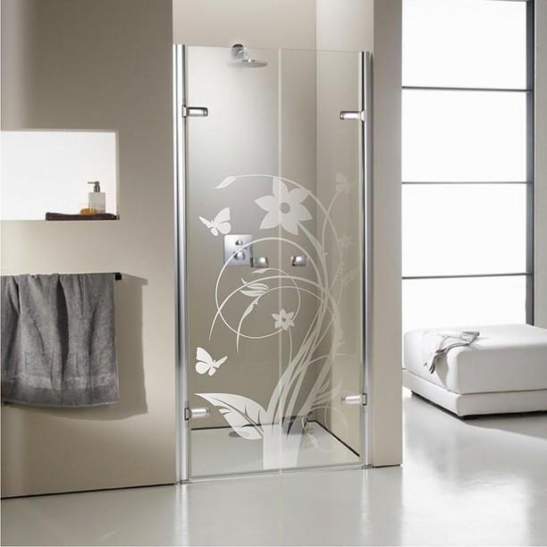 vidro jateado banheiro