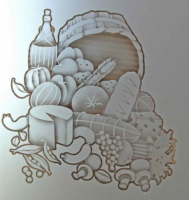 vidro jateado desenho