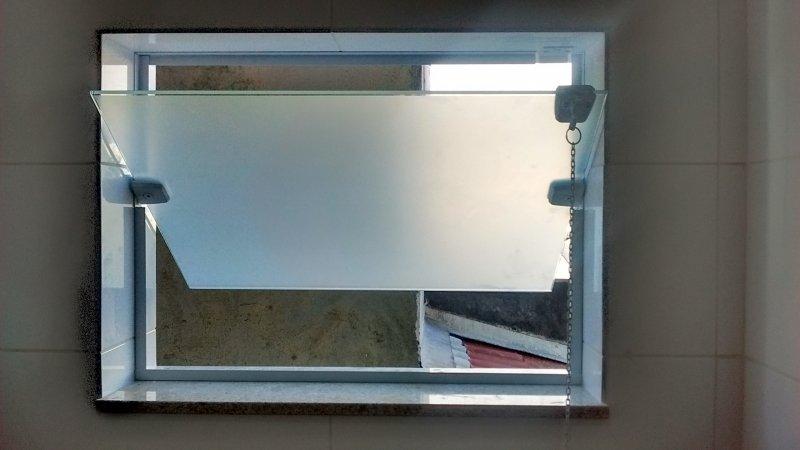 vidro jateado janela