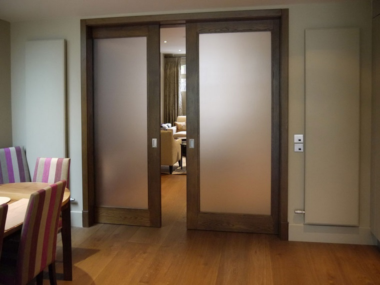 vidro jateado porta